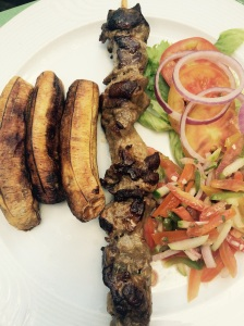 Plantains & goat