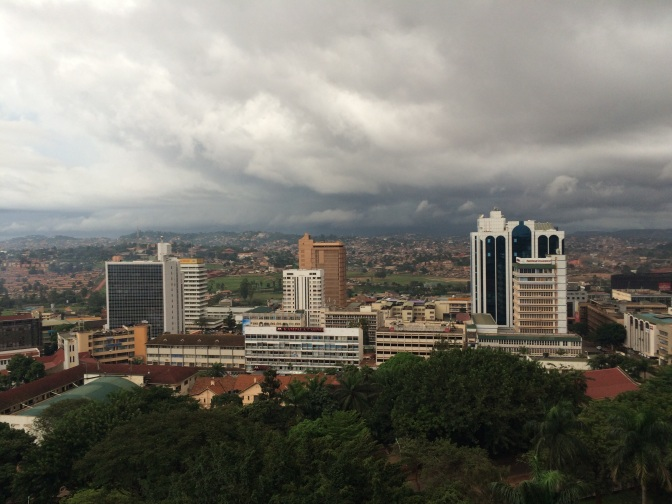 A rather grey day in Kampala